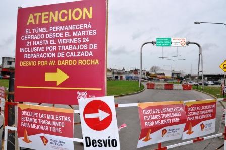 El túnel de Carupá permanecerá cerrado al tránsito por trabajos de reparaciones de calzada
