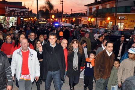 Massa inauguró obras en Ricardo Rojas