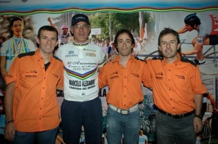 Walter Pérez en el lanzamiento del gran premio Marcelo Alexandre