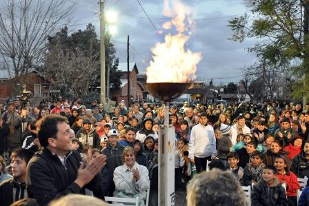 Massa encendido de la llama votiva