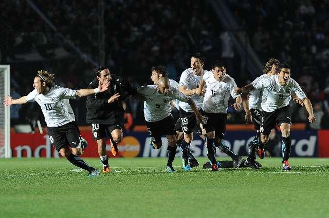 Uruguay tuvo su celebración al eliminar a la Argentina