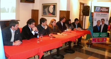 El Frente Popular San Isidro presentó a sus candidatos