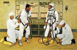 70 obras de arte documentan los 50 años de la NASA