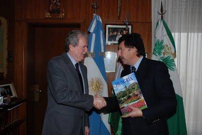 Posse recibió el embajador Húngaro Pal Verga Koritary