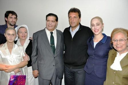 Sergio Massa homenajeó a Evita en el Teatro Niní Marshall