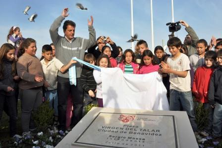 Los vecinos de Benavídez ya disfrutan la nueva plaza Virgen del Talar