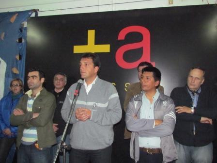 Massa participó de un acto un acto con el movimiento Evita de Tigre