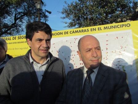 Oscar Ponce acompaño a Jorge Macri en la presentación de su programa de seguridad