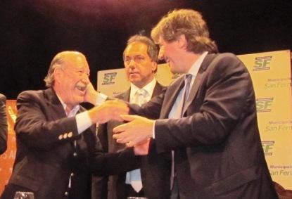 Boudou y Scioli firmaron convenios en San Fernando
