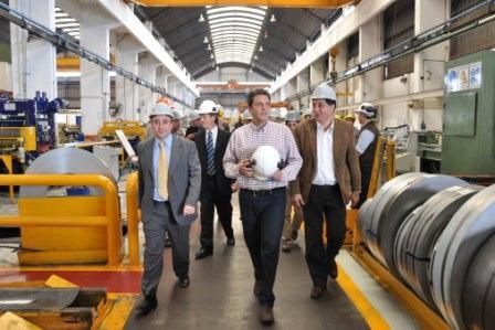 Sergio Massa visitó la empresa Ferrosider