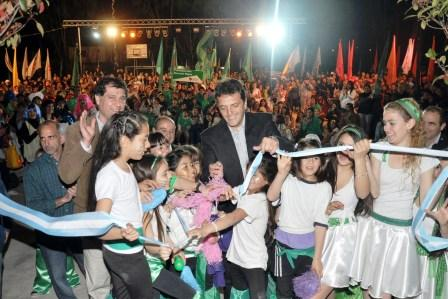 El intendente de Tigre, Sergio Massa, lo inauguró ante numerosos vecinos de la zona
