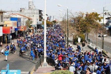 Multitudinaria bicicleteada familiar en San Fernando