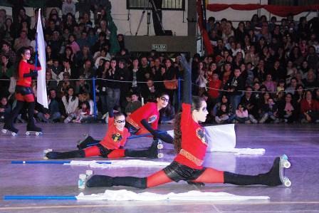 Se realizó el Festival Anual de la Escuela Municipal de Patín Artístico en Tigre