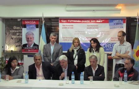 Integrantes de la lista del UDESO de San Fernando también sumaron su apoyo a Andreotti