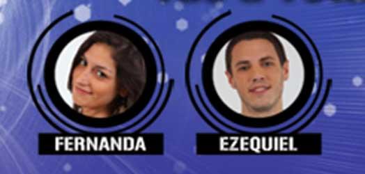 Fernanda y Ezequiel lucharán por el apoyo del público para permanecer en la casa