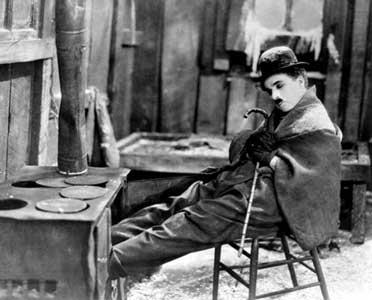"""El genial Chaplin en """"La quimera del oro"""""""