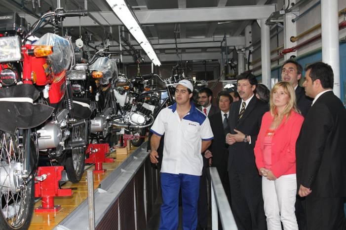 Inauguraron la planta de motos Suzuki en Boulogne