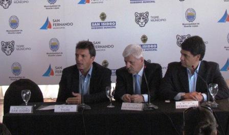 Con la ausencia de Gustavo Posse se reunieron los intendentes de la Región Metropolitana Norte