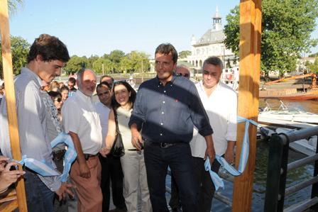 El Intendente de Tigre, Sergio Massa, dio por inauguradas las nuevas amarras isleñas Rodolfo Walsh