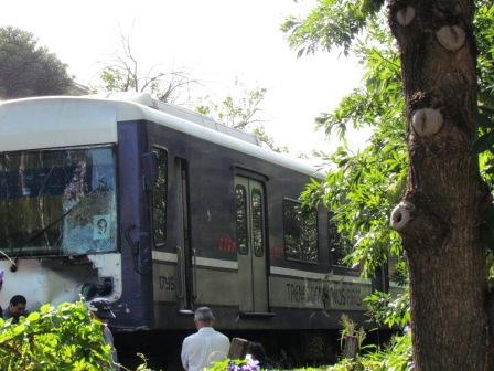 Un Tren embistió a un camión en Tigre