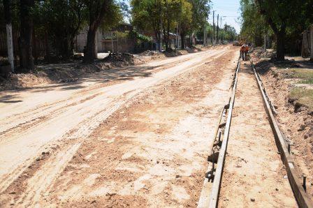 Obras de pavimentación en Malvinas Argentinas.