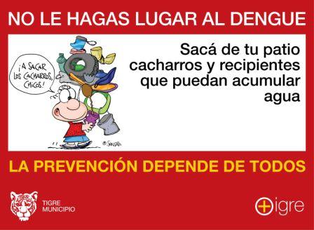 Con el calor, más medidas de prevención contra el Dengue en Tigre.