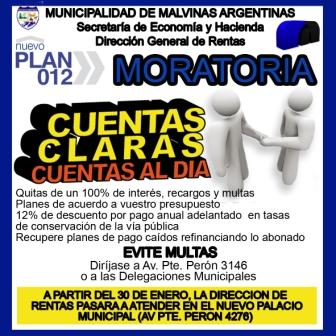 Alto acatamiento de los vecinos a la Moratoria 2012.