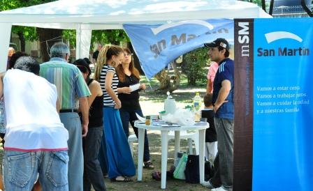 Los servicios que brinda la Municipalidad de San Martín llegan a la Plaza Mercedes Sosa
