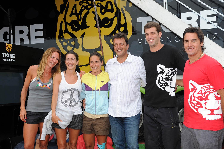 Figuras del deporte y del espectáculo celebraron el verano con Tigre en Pinamar.