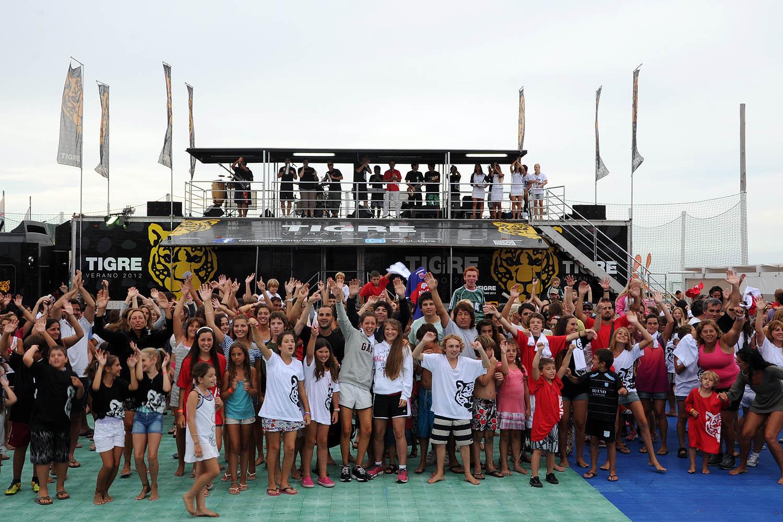 Figuras del deporte y del espectáculo celebraron el verano con Tigre en Pinamar