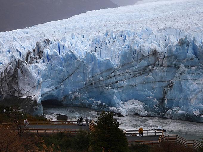 El glaciar Perito Moreno  rompió de madrugada y el espectáculo fue para pocos