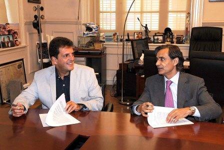 El Intendente de Tigre, Sergio Massa, y el Director de GOBERNA América Latina con sede principal en Madrid, Jesús Sánchez Lambás