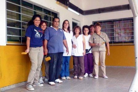 Trabajos en la Escuela 19 de Rincón
