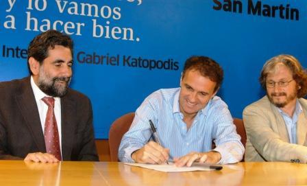 Katopodis firmó convenios de cooperación con el Ministerio de Trabajo de la Nación y la UNSAM