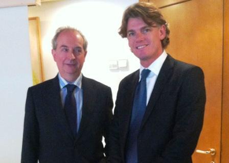 El Vicepresidente Ejecutivo del Grupo Banco Provincia, Nicolás Scioli, se reunió hoy con el director general del Grupo Lico, Ramiro Robles