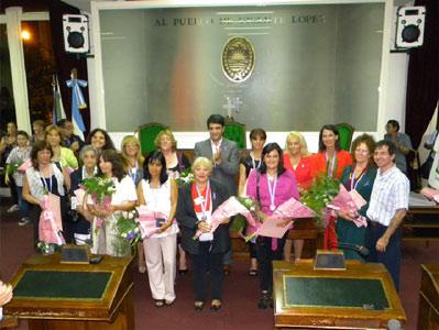 Distinción a mujeres destacadas del municipio en el HCD de Vicente López