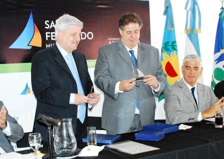 Andreotti recibió a Collia en la sede Punta Chica del Consorcio Parque Náutico