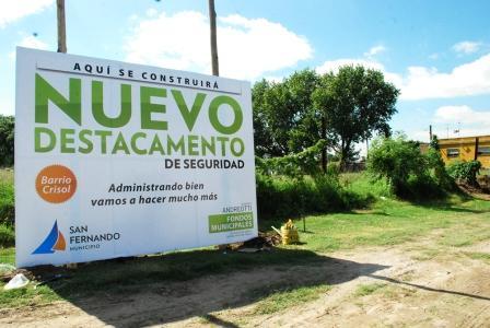Comenzaron las obras del nuevo destacamento policial en el Barrio Crisol de San Fernando