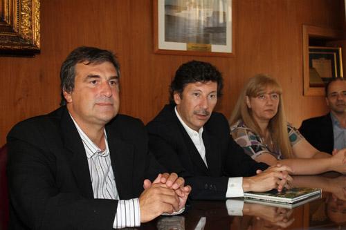 Posse recibió al intendente de Cerro Largo, Uruguay
