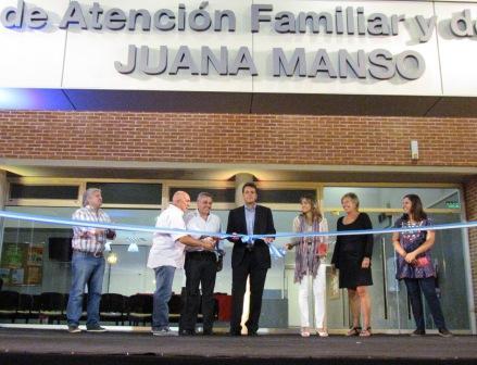 Massa inauguró un nuevo Centro de Atención Familiar y de Salud de primer nivel