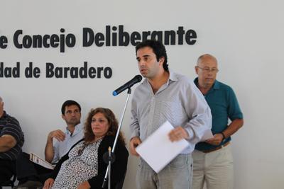 El concejal Jorge Alvarez representó a San Isidro