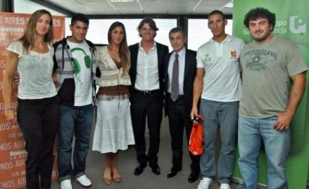 Alejandro Rodríguez y el Vicepresidente ejecutivo del Grupo Banco Provincia, Nicolás Scioli, mantuvieron una reunión con deportistas de la provincia de Buenos Aires