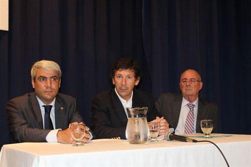 Navarro, Posse y Hirsch, en la reunión constitutiva del reciente Consejo