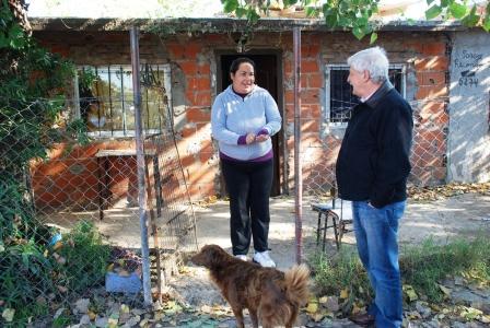El Intendente Luis Andreotti realizó una recorrida por el barrio San Martín