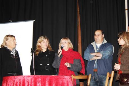 Donadío, Jaureguiberry, Garrido, Castellano y Giurlani, en la inauguración de la feria