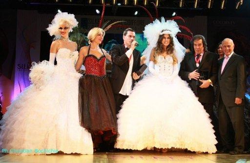 La Niña Loly Antoniale lució un vestido de novia del diseñador Roberto Piazza