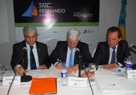 El Intendente Luis Andreotti firmó convenios con el Secretario de Niñez y Adolescencia de la Provincia de Buenos Aires, Pablo Navarro