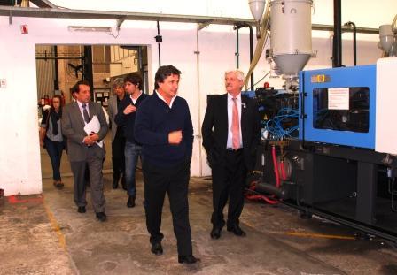 Andreotti recorrió las instalaciones de la empresa Duke