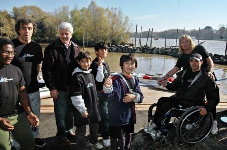 Andreotti inauguró la Escuela Municipal de Remo y Canotaje