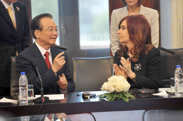 Cristina y Wen Jiabao firmaron acuerdos bilaterales